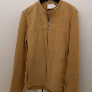 Vintage sz L suede knit Bomber jacket